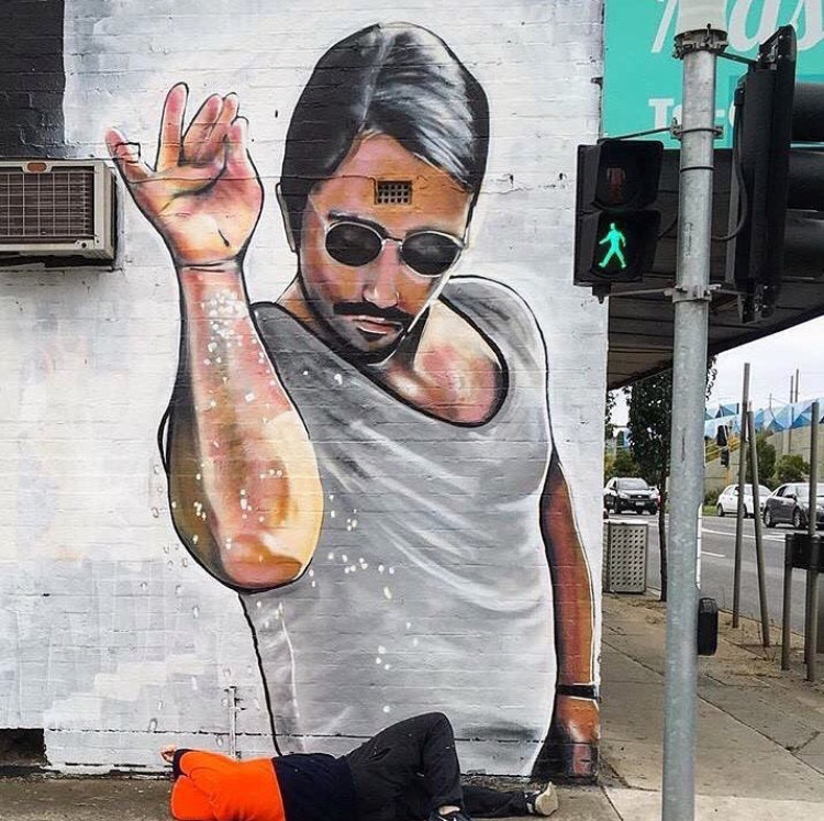 A mural of saltbae in Australia